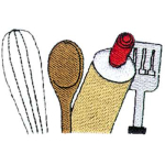 Chef / Cook Embroidery Designs & Templates