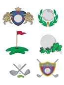 Golf Embroidery Design Templates