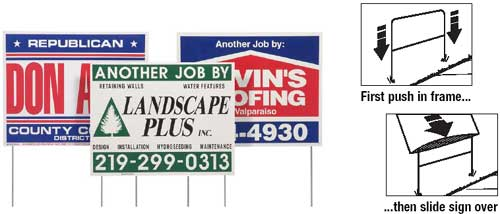 Double Sided Lawn Business Signs