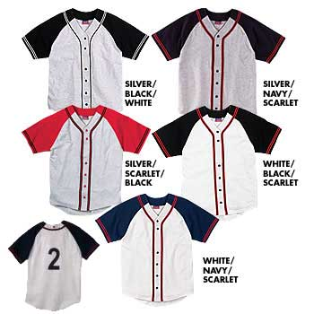 Champion Raglan Sleeve Button Front with Braid Trim - All Colors