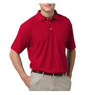 Custom Mens Teflon Treated  Pique Polo with Pocket