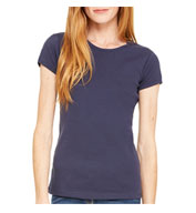 Bella 1x1 Rib Short Sleeve Crewneck T-shirt