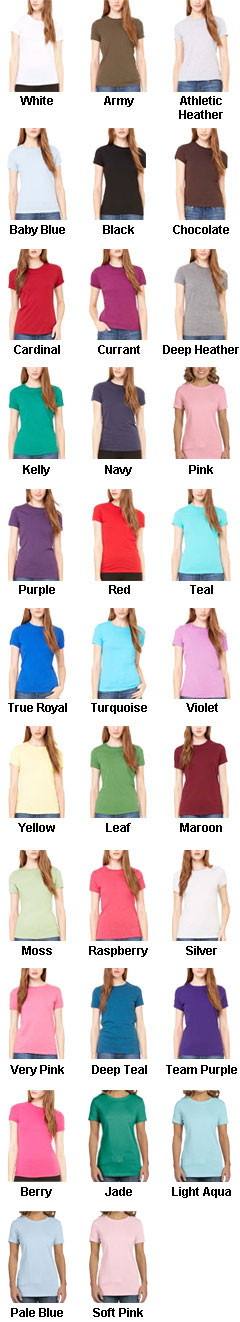 Bella Ladies Short Sleeve T-Shirt - All Colors