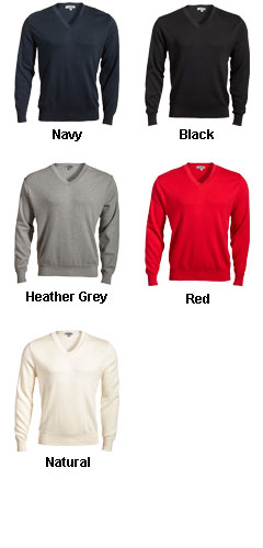 Mens Pullover V-Neck Sweater - All Colors