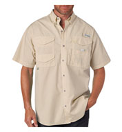 Custom Columbia® Bonehead Shortsleeve Fishing Shirt
