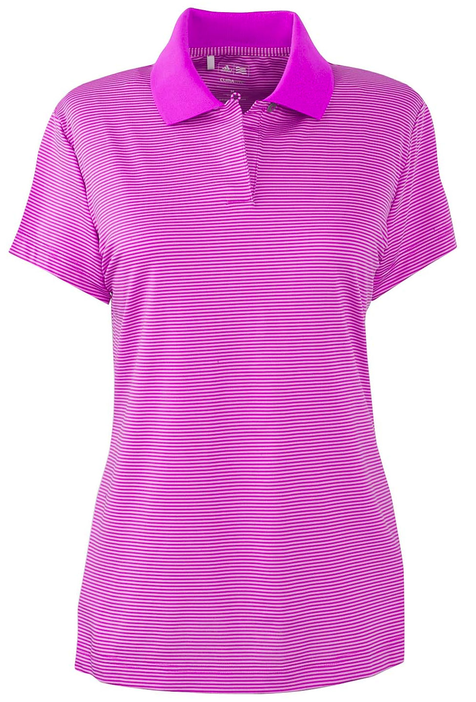 Adidas Golf Ladies ClimaLite� Classic Stripe Short-Sleeve Polo