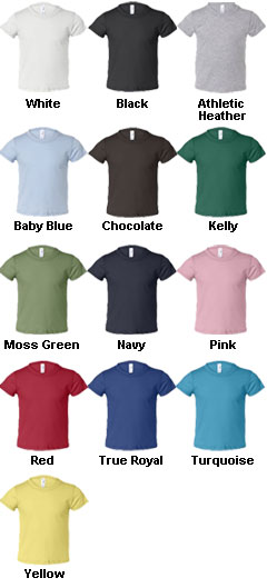 Bella Toddler Short Sleeve Jersey T-shirt - All Colors