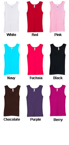 Bella Girls  Stretch RibTank Top - All Colors