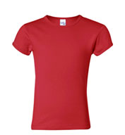 Bella Girls Short Sleeve Crewneck T-shirt