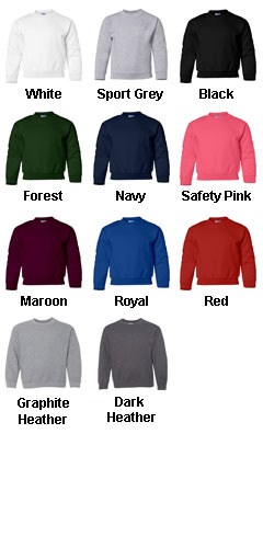 Gildan Youth Crew Neck Sweatshirt - All Colors