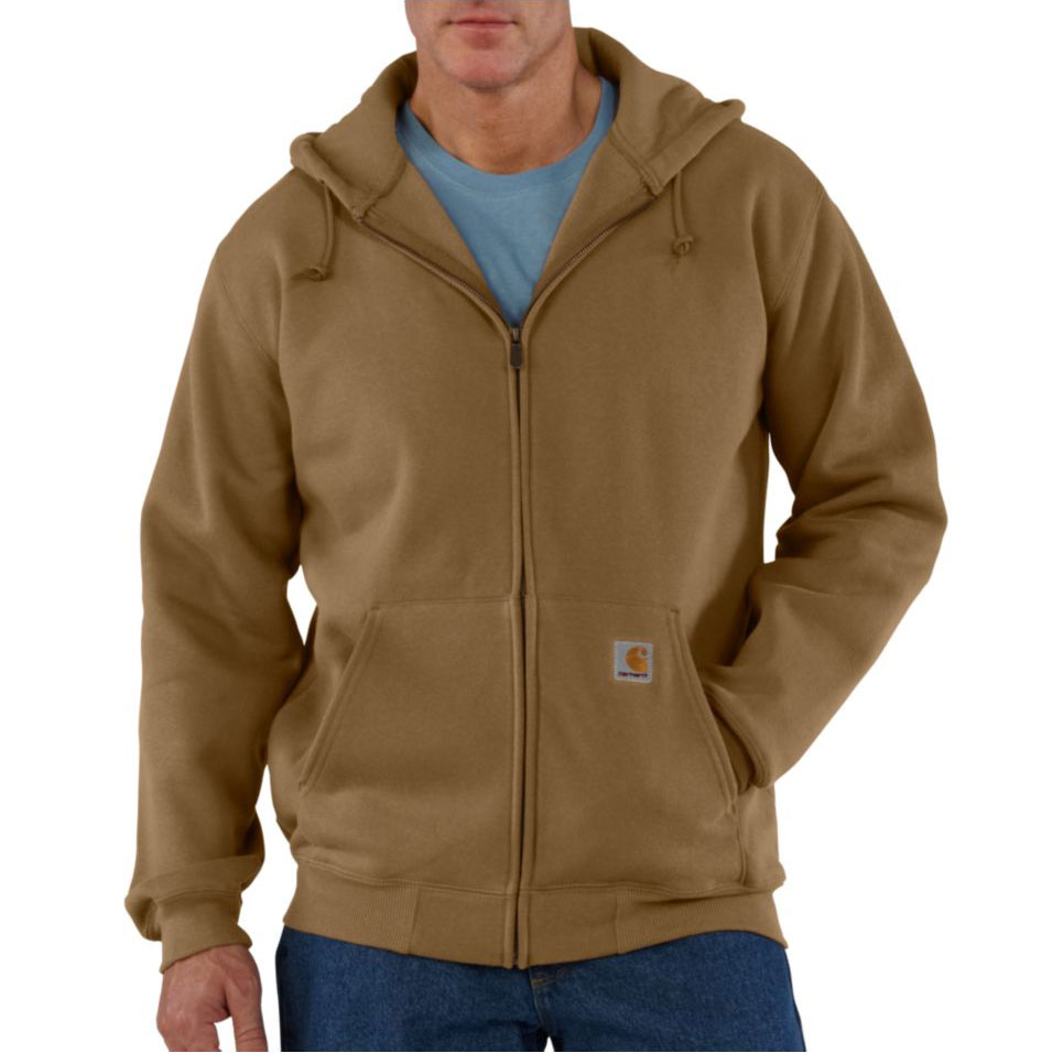 Heavyweight Hooded Zip-Front Sweatshirt