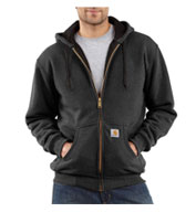 Thermal Lined Hooded Zip-Front Sweatshirt