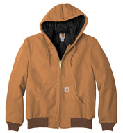 Custom Carhartt Duck Active Jacket with Quilted Flannel Mens