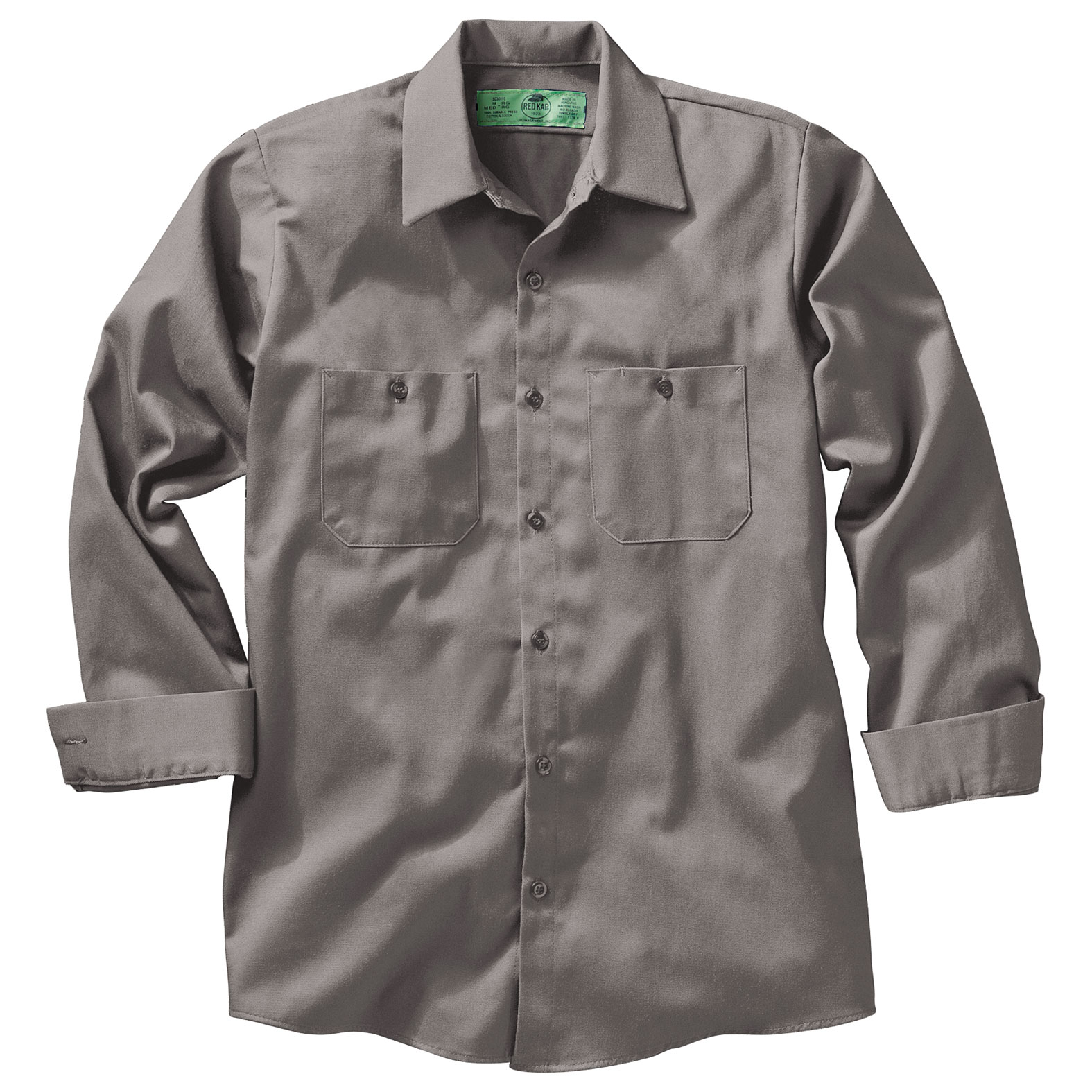 Mens 100% Cotton Long Sleeve Uniform Shirt
