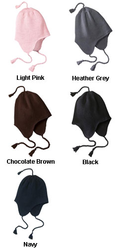 Knit Hat with Earflaps - All Colors