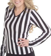 Juniors V-Neck Long Sleeve Ref Shirt