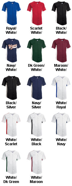 Adult Stadium-Core Full Button Baseball Jersey  - All Colors