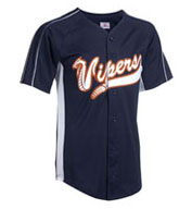 Custom Adult Stadium-Core Full Button Baseball Jersey with Mesh Side Inserts Mens