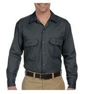 Custom Dickies Mens Long Sleeve Twill Workshirt
