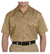 Custom Dickies Mens Short Sleeve Twill Workshirt