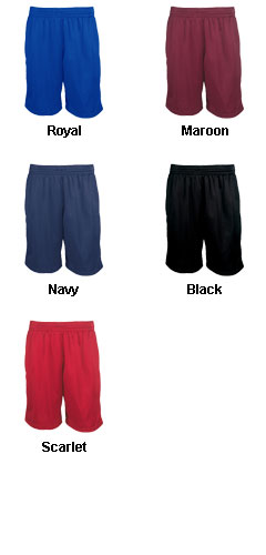 Adult 9 Inseam Pocketed Mesh Short - All Colors