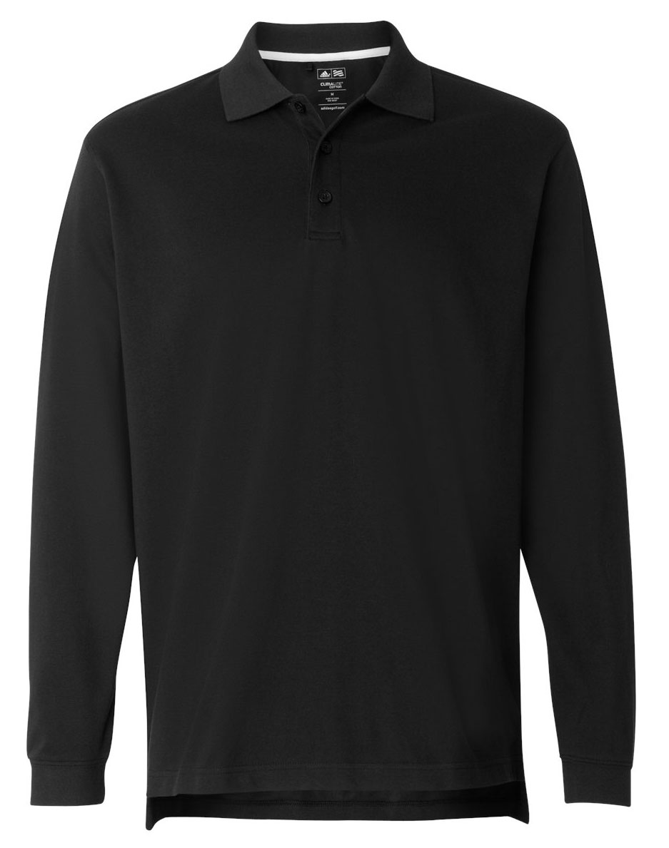 Adidas Mens ClimaLite® Long Sleeve Pique Polo