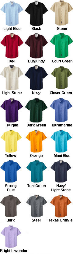 Mens Easy Care, Wrinkle Resistant Short Sleeve Shirt - All Colors