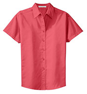 Ladies Easy Care Wrinkle Resistant Short Sleeve Shirt