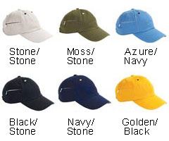 HYP Hats Six-Panel Baseball Cap with Zipper Pocket - All Colors