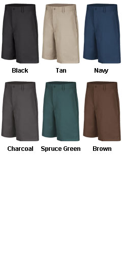 Plain Front Mens Shorts - All Colors