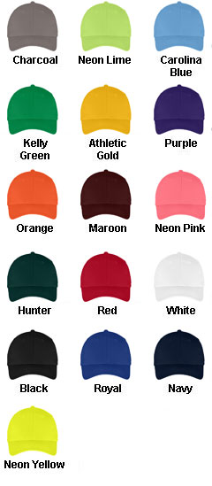 Youth 6-Panel Twill Cap - All Colors