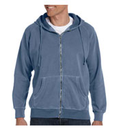 100% Garment-dyed Full-zip Hood Mens