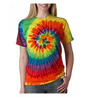 Adult Rainbow Swirl Tie Dye T-shirt