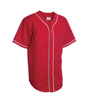 Custom Youth 6-Button Baseball Jerseys with Sewn-On Braid