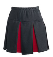 Custom Girls Box Pleated Skirt with Contrast Colored Pleats