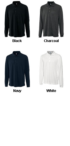 CB DryTec Long-Sleeve Championship Polo for Men - All Colors