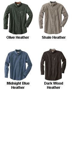Mens Heather Chamois Cloth Shirt - All Colors