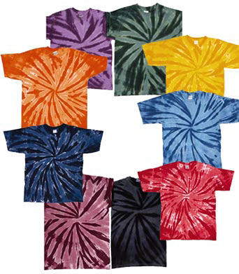 Youth Pinwheel Tie Dye T-shirts - All Colors