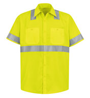 Custom ANSI 107-2004 Class 2 Level 2 Compliant Hi-Visibility Shirt