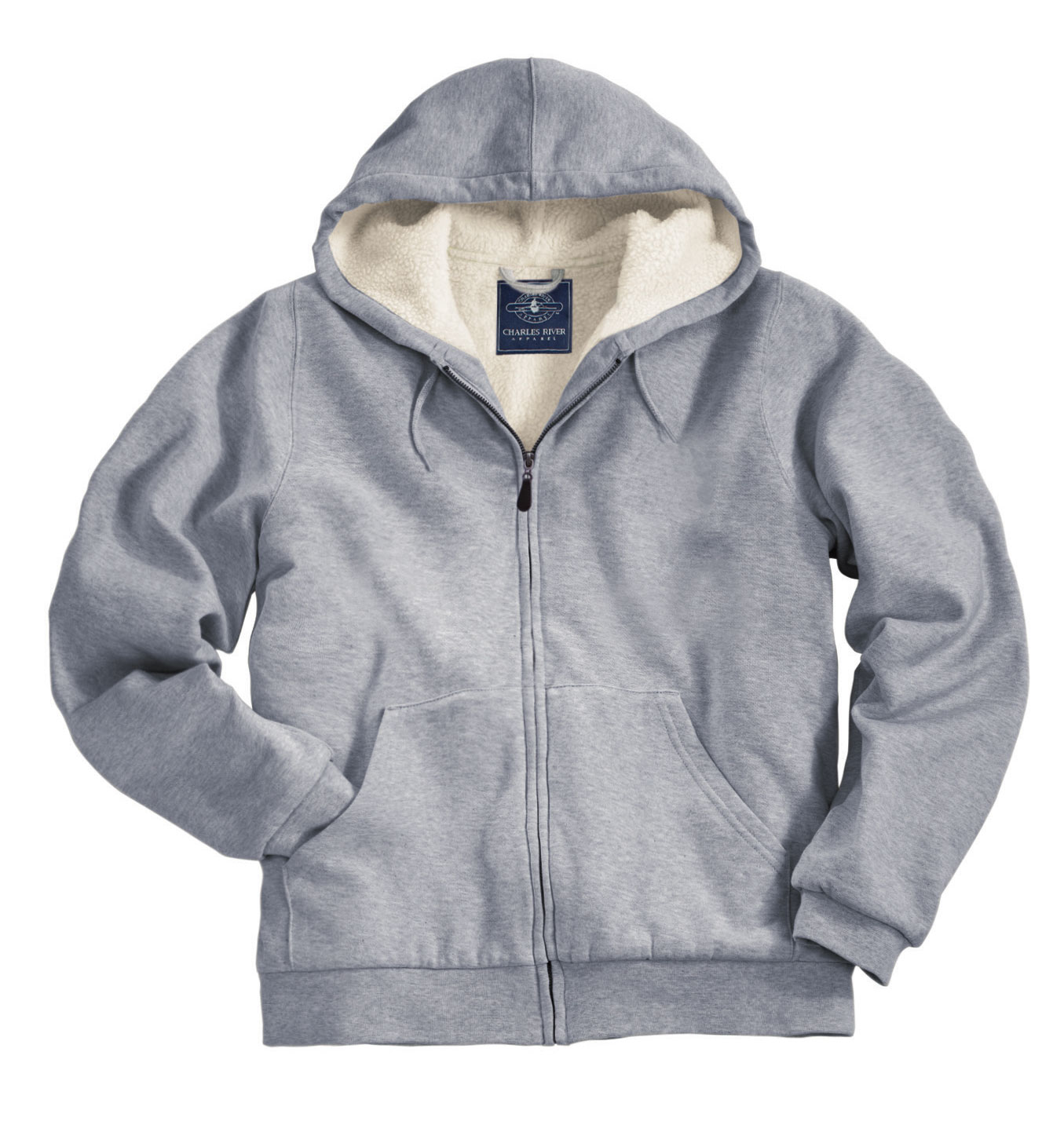 Mens  Sherpa Lined  Hooded Sweatshirt by Charles River Apparel