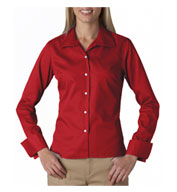 Custom UltraClub Ladies Stain Resistant Whisper Elite Twill Shirt