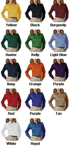 Ladies Long Sleeve Teflon Twill Shirt - All Colors
