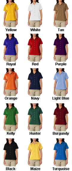 Ladies Short Sleeve Teflon Twill Shirt - All Colors