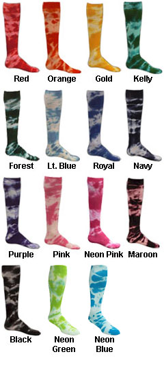 Intermediate Tie Dyed Socks - All Colors