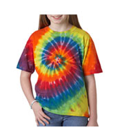 Custom Youth Rainbow Swirl Tie Dye Tshirt