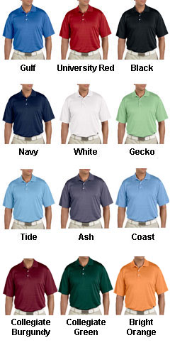 Adidas Golf Mens ClimaLite� Textured Short-Sleeve Polo - All Colors