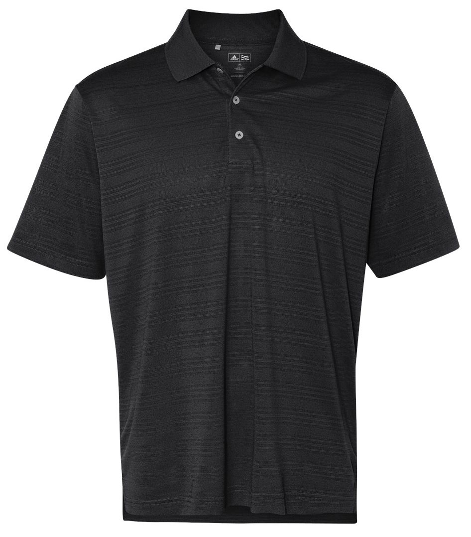Adidas Golf Mens ClimaLite® Textured Short-Sleeve Polo