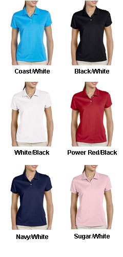 Adidas Ladies Climalite® Short-Sleeve Pique Polo - All Colors