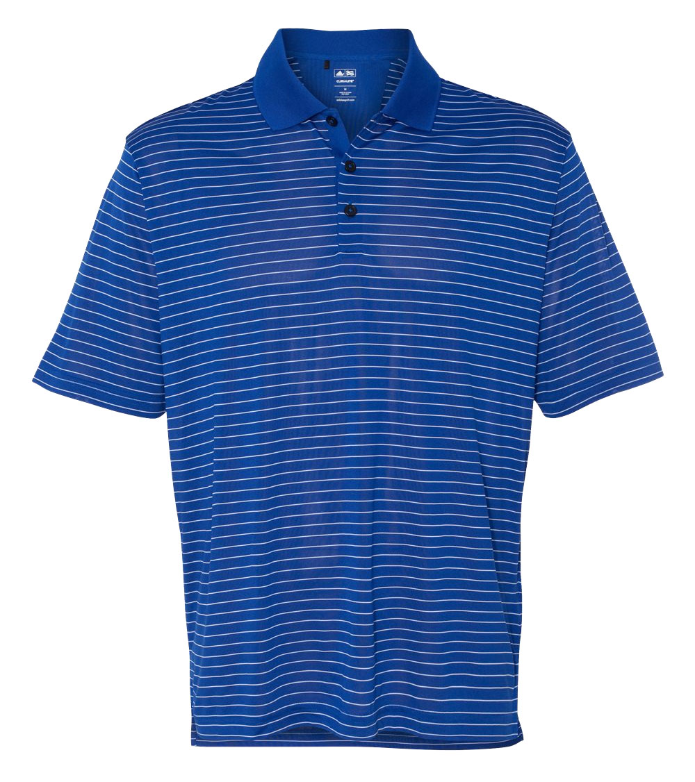 Adidas Mens Climalite� Pencil Stripe Pique Polo