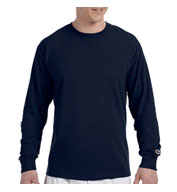 Custom Champion 100% Jersey Long Sleeve Tagless Tee Mens
